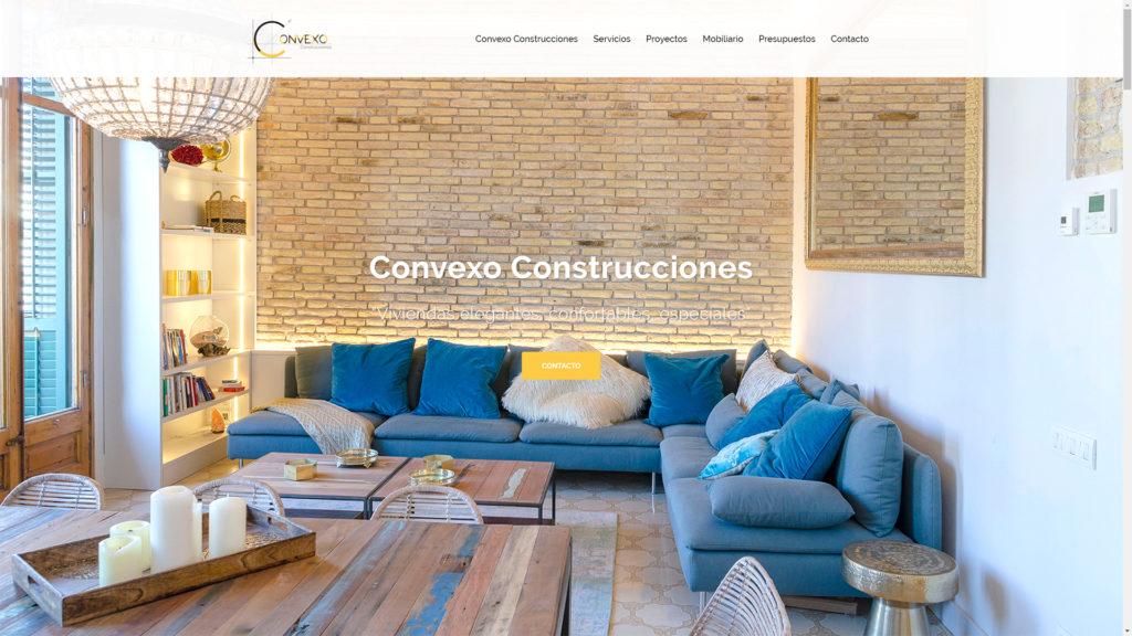 Web Design | Creación de la Web y de la Identidad Corporativa de Convexo Construcciones. www.convexoconstrucciones.com