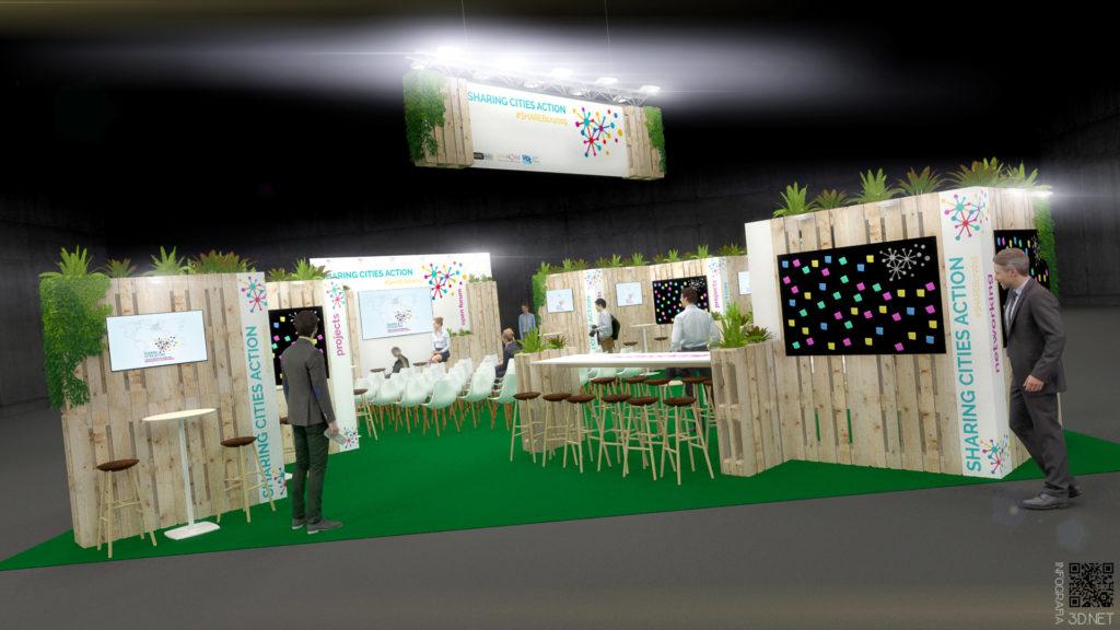 Stand | Diseño, CAD y 3D. Concuso en colaboración con Carpintería Alarcón S.L.