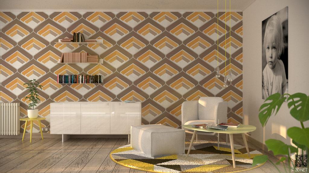Interiorismo | 3D. Proyecto de interiorismo 60´s.